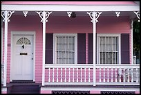 Pastel-colored pink porch. Key West, Florida, USA