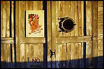 Wooden door with cuba poster. Key West, Florida, USA ( color)