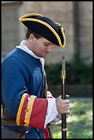 Period dressed Spanish soldier. St Augustine, Florida, USA ( color)