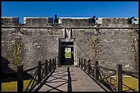 Entrance, Castillo de San Marcos Spanish Fort. St Augustine, Florida, USA ( color)