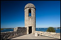 Bell Tower, Castillo de San Marcos National Monument. St Augustine, Florida, USA