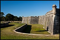 Coquina walls of historic fort, Castillo de San Marcos National Monument. St Augustine, Florida, USA ( color)