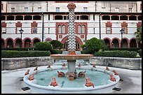 Frog fountain in the courtyard at Flagler College. St Augustine, Florida, USA ( color)