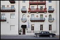 Classic car and hotel facade. St Augustine, Florida, USA ( color)