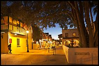 historic Spanish Colonial Quarter by night. St Augustine, Florida, USA ( color)