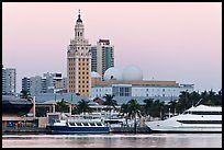 Miami Waterfront and Freedom Tower at dawn. Florida, USA ( color)
