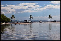 Flooded lot and Biscayne Bay, Matheson Hammock Park. Coral Gables, Florida, USA ( color)