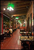 Cuban restaurant at night, Mallory Square. Key West, Florida, USA