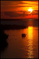 Sunrise over Atlantic shore, Sugarloaf Key. The Keys, Florida, USA (color)