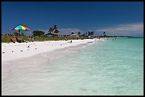 Turquoise waters, Sandspur Beach, Bahia Honda State Park. The Keys, Florida, USA