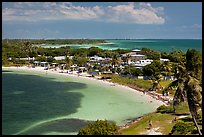 Panoramic view of Bahia Honday Key and Bahia Honda State Park. The Keys, Florida, USA (color)