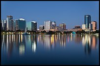 Orlando Skyline at night. Orlando, Florida, USA ( color)