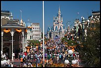 Gateway to Fantasyland and Main Street, Magic Kingdom. Orlando, Florida, USA ( color)