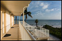 Beachfront resort and ocean, Sanibel Island. Florida, USA ( color)