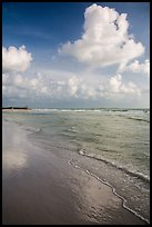 Clouds and reflections, Fort De Soto beach. Florida, USA ( color)