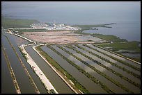 Aerial view of Turkey Point Nuclear Generating Station. Florida, USA ( color)