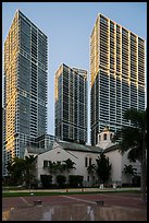 First Presbyterian Church and high rise towers, Miami. Florida, USA ( color)