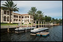 Mansion with boat dock. Coral Gables, Florida, USA ( color)