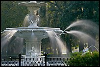 Detail of 1858 fountain in Forsyth Park. Savannah, Georgia, USA ( color)