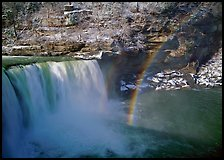 Rainbow over Cumberland Falls in winter. Kentucky, USA ( color)