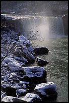 Cumberland falls in winter. Kentucky, USA ( color)