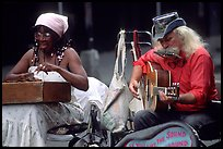 Street musicians, French Quarter. New Orleans, Louisiana, USA ( color)