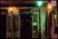 Cafe on Bourbon street at night, French Quarter. New Orleans, Louisiana, USA ( color)