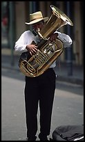 Street Musician, French Quarter. New Orleans, Louisiana, USA (color)