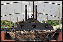 Ironclad union gunboat Cairo, Vicksburg National Military Park. Vicksburg, Mississippi, USA ( color)