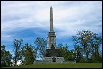 Obelisk and statues commemorating a unit, Vicksburg National Military Park. Vicksburg, Mississippi, USA ( color)