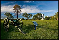Cannon, union position marker, and monument, Vicksburg National Military Park. Vicksburg, Mississippi, USA ( color)