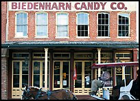 Horse carriage in front of Biedenharn Candy building. Vicksburg, Mississippi, USA ( color)