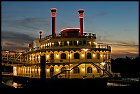 Horizon riverboat casino at dusk. Vicksburg, Mississippi, USA ( color)