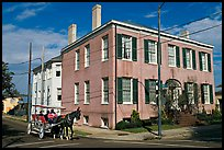 Horse carriage in the historic district. Natchez, Mississippi, USA