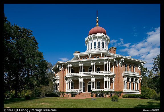 Longwood, an unfinished mansion with an octogonal shape. Natchez, Mississippi, USA