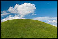 Emerald Mound, constructed between 1300 and 1600. Natchez Trace Parkway, Mississippi, USA