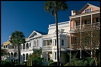 Row of Antebellum mansions. Charleston, South Carolina, USA (color)