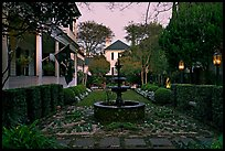House garden at dusk. Charleston, South Carolina, USA
