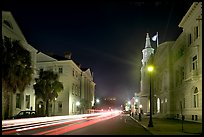 Four Corners of Law (church, courthouses, city hall) at night. Charleston, South Carolina, USA ( color)
