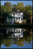 House reflected in pond. Beaufort, South Carolina, USA ( color)