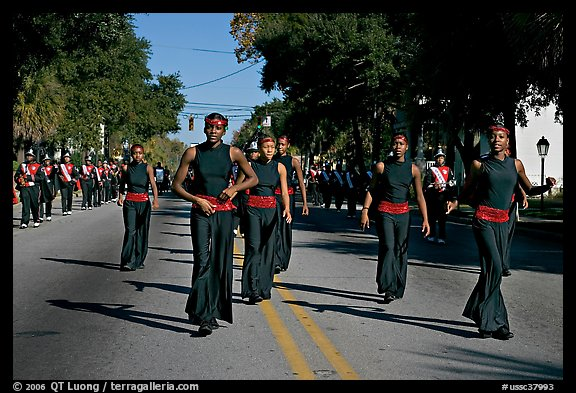 African American youngsters during parade. Beaufort, South Carolina, USA