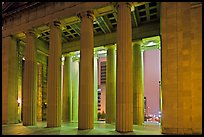 Columns of War memorial by night. Nashville, Tennessee, USA