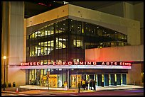 Tennessee Performing Arts Center at night. Nashville, Tennessee, USA ( color)