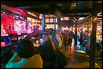Bar with live music in Beale Street. Memphis, Tennessee, USA (color)