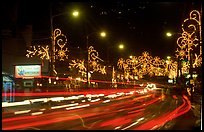 Christmas lights and traffic. Tennessee, USA ( color)