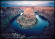 Horsehoe bend of the Colorado River, dawn. USA ( color)
