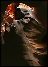 Slot canyon walls, Upper Antelope Canyon. Arizona, USA ( color)
