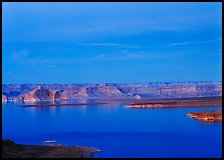 Lake Powell, blue hour. USA ( color)