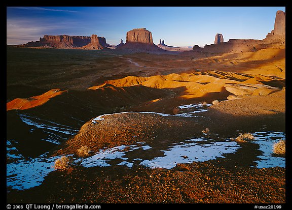 View from Ford point, late afternoon. Monument Valley Tribal Park, Navajo Nation, Arizona and Utah, USA