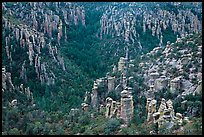 Landscape of spires from Massai Point. Chiricahua National Monument, Arizona, USA